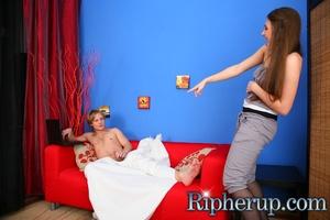Hot chick jeered her boyfriend wanking o - XXX Dessert - Picture 1