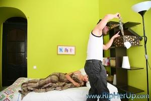 Sexy burglar strikes sleeping hostess an - XXX Dessert - Picture 1