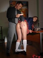 A sugary schoolgirl was compelled to go - Unique Bondage - Pic 3