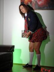 A sugary schoolgirl was compelled to go - Unique Bondage - Pic 7