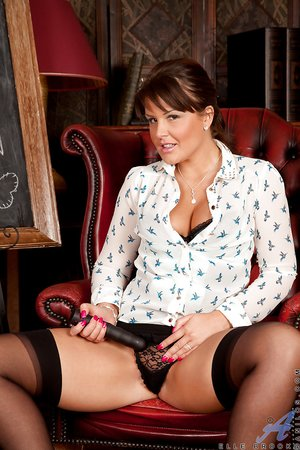 British brunette woman teacher