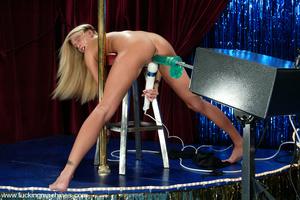 Sex machine xxx. Super sexy blonde gets  - XXX Dessert - Picture 5