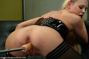 Machines sex. Leggy Blonde gets a milkin - XXX Dessert - Picture 7