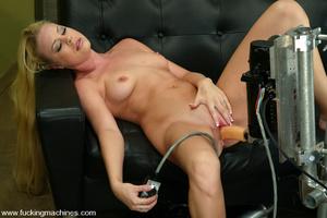 Machines sex. Leggy Blonde gets a milkin - XXX Dessert - Picture 11