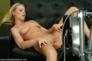 Machines sex. Leggy Blonde gets a milkin - XXX Dessert - Picture 13