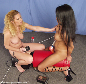 Fucking machine. See Goldie and Tina Toy - XXX Dessert - Picture 10
