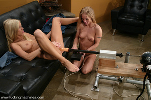 Fucking machines xxx. Two Blonde babes f - XXX Dessert - Picture 8