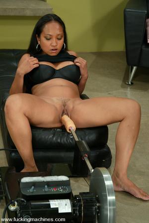 Sex machine porn. Sexy Asain girl fucks  - XXX Dessert - Picture 3
