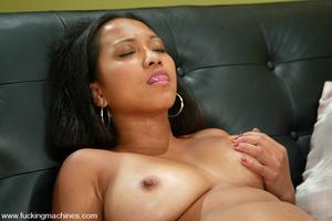 Sex machine porn. Sexy Asain girl fucks  - XXX Dessert - Picture 12