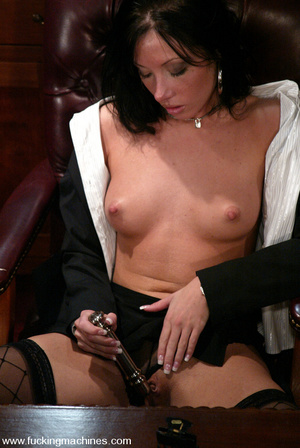 Fucking machines sex. Naughty Nadia gets - XXX Dessert - Picture 1