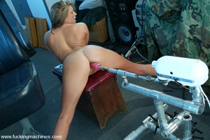 Machines sex. Natural blonde enjoys puss - XXX Dessert - Picture 11