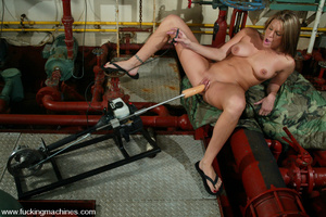 Machines sex. Natural blonde enjoys puss - XXX Dessert - Picture 12