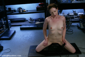 Fucking machine sex. Blonde all natural  - XXX Dessert - Picture 13