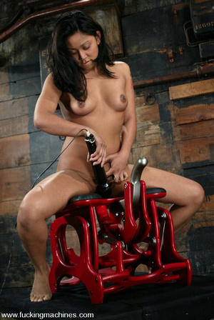 Fucking machine sex. Peasant girl plays  - XXX Dessert - Picture 3
