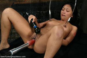 Fucking machine sex. Peasant girl plays  - XXX Dessert - Picture 12