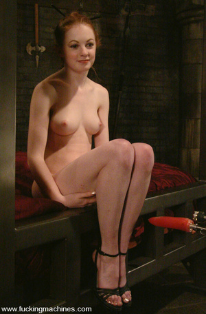 Fuck machines. Lovely red-head gets tied - XXX Dessert - Picture 4