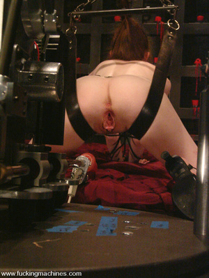 Fuck machines. Lovely red-head gets tied - XXX Dessert - Picture 8