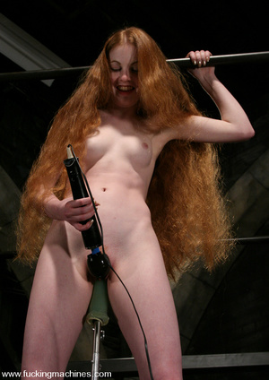 Fuck machines. Lovely red-head gets tied - XXX Dessert - Picture 11