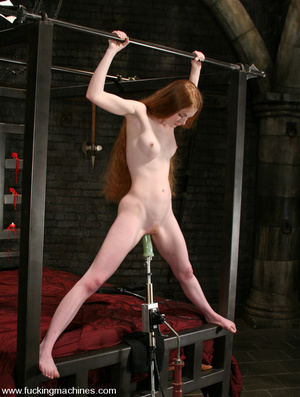 Fuck machines. Lovely red-head gets tied - XXX Dessert - Picture 14
