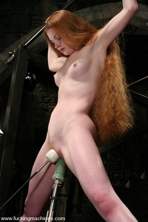 Fuck machines. Lovely red-head gets tied - XXX Dessert - Picture 15