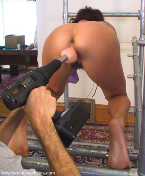 Fuck machine. Karina gets mounted on a m - XXX Dessert - Picture 8