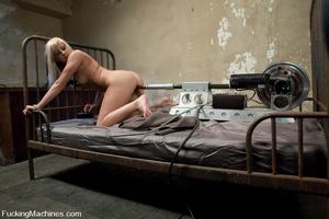 Sex machine porn. Blond 19 year old gets - XXX Dessert - Picture 4