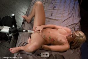 Sex machine porn. Blond 19 year old gets - XXX Dessert - Picture 11