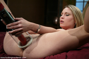 Fucking machines. Harmony Rose gets tied - XXX Dessert - Picture 1