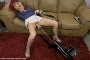 Love machine sex. Blonde newcomer with n - XXX Dessert - Picture 2