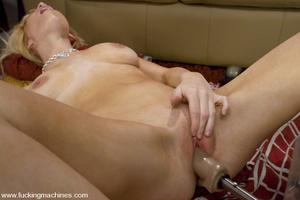 Love machine sex. Blonde newcomer with n - XXX Dessert - Picture 12