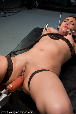 Free sex machines. Dirty blonde gets bou - XXX Dessert - Picture 7