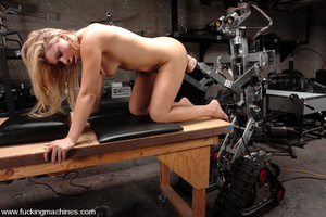 Love machine sex. Blonde babe with big t - XXX Dessert - Picture 10