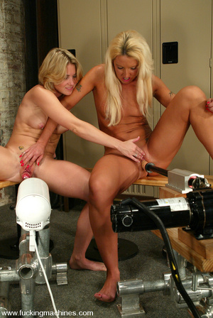 Machine fuck. Sabrina and Fiona fuck eac - XXX Dessert - Picture 6