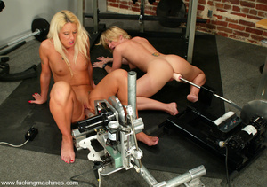 Machine fuck. Sabrina and Fiona fuck eac - XXX Dessert - Picture 14