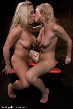 Fuck machines. Two blondes fucked hard b - XXX Dessert - Picture 7