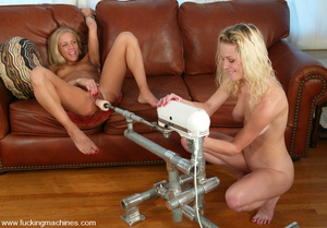 Machine sex. More double blonde fun with - Picture 3