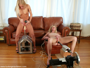 Machine sex. More double blonde fun with - Picture 7