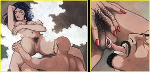 Adult comics. Man is licking woman pussy - XXX Dessert - Picture 6