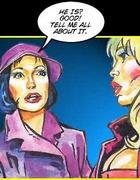 Sexy comics. Girl is recollecting her sex adventures.