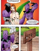 Porn comix. Superhero porn girl is captured and fucked.