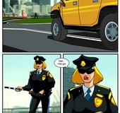 Sexcartoon. Police girl fucked as a ticket payment.