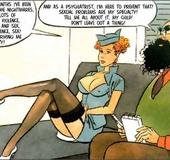 Cartoon sex porn. Stewardess.