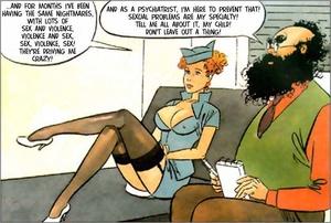 Cartoon sex porn. Stewardess. - XXX Dessert - Picture 1