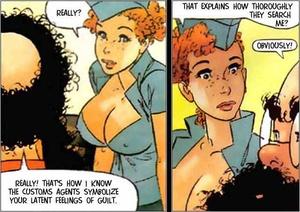 Cartoon sex porn. Stewardess. - XXX Dessert - Picture 4