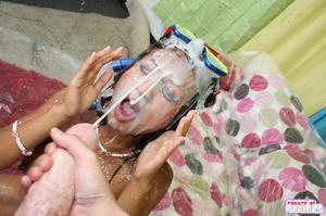 Cumshot porn. Kina Kai gangbang by big c - Picture 16