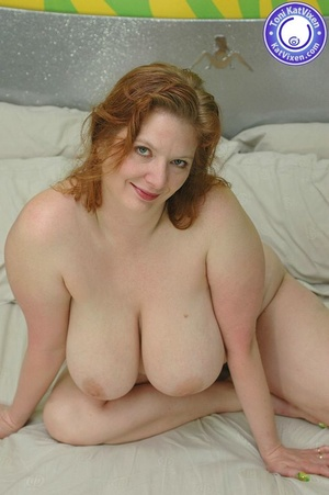 Fat women sex. Busty redhead holding her - XXX Dessert - Picture 12