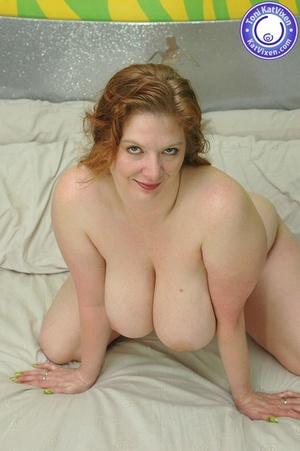 Fat women sex. Busty redhead holding her - XXX Dessert - Picture 13