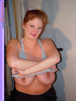 Mature females. Busty Babe Works Out. - XXX Dessert - Picture 7