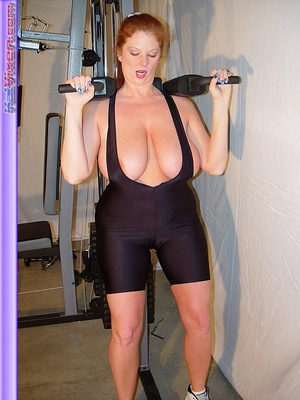 Mature females. Busty Babe Works Out. - XXX Dessert - Picture 13