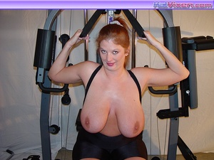 Mature females. Busty Babe Works Out. - XXX Dessert - Picture 19